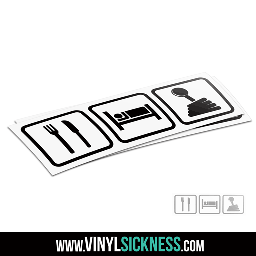 Eat Sleep Shift Jdm Sticker Decal