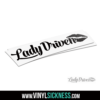 Lady Driven Jdm Sticker Decal