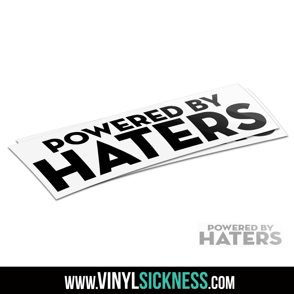 I LOVE HATERS Heart Haters gonna hate windshield banner Sticker Car Window Decal