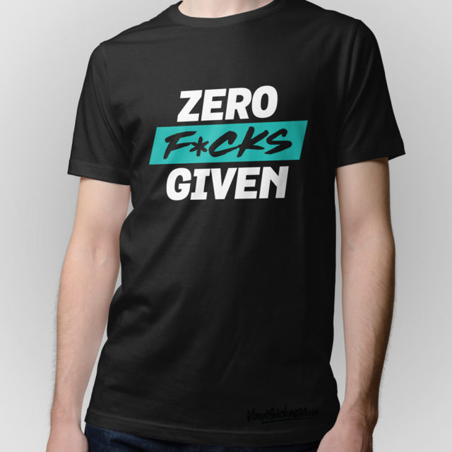 Zero Fucks Given Jdm Tuner Shirt Black