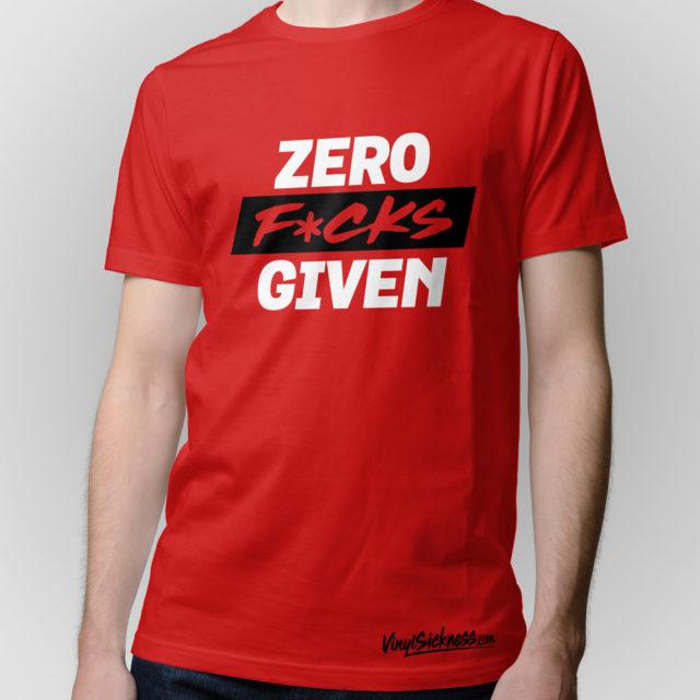 Zero Fucks Given Jdm Tuner Shirt Red