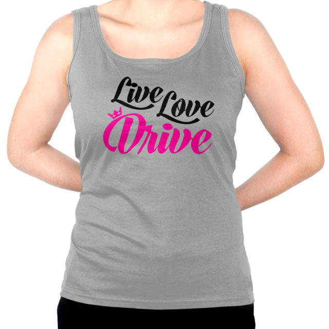 Live Love Drive Gray Jdm Tuner Tank Top