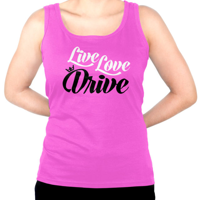 Live Love Drive Pink Jdm Tuner Tank Top