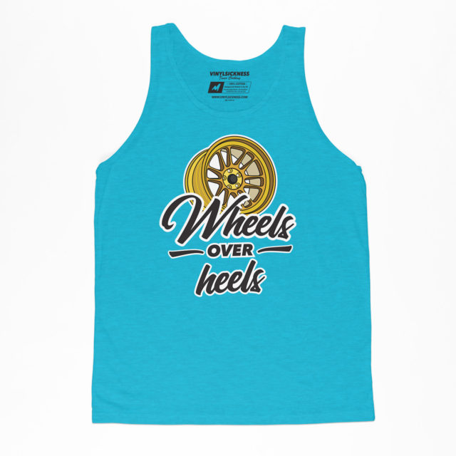 Wheels Over Heels Aqua Jersey Tank Jdm Tuner Apparel