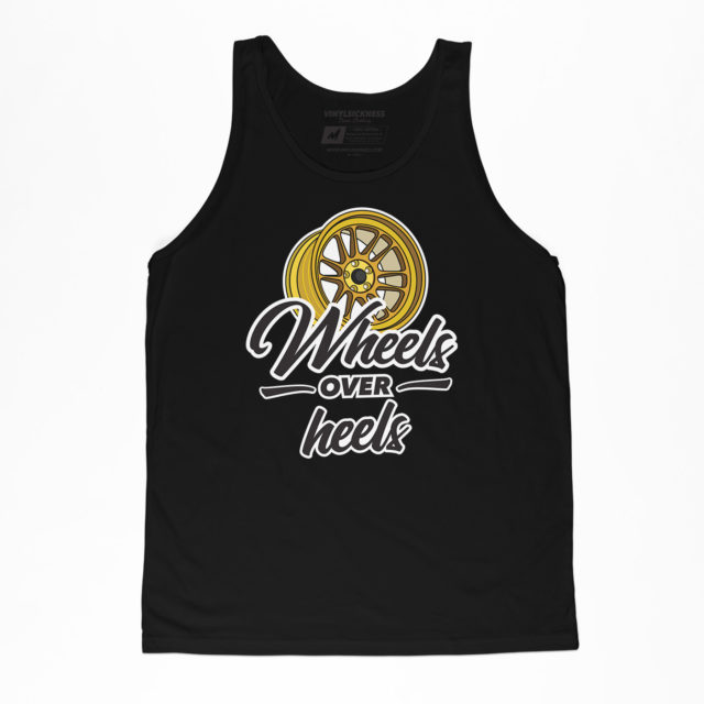 Wheels Over Heels Black Jersey Tank Jdm Tuner Apparel