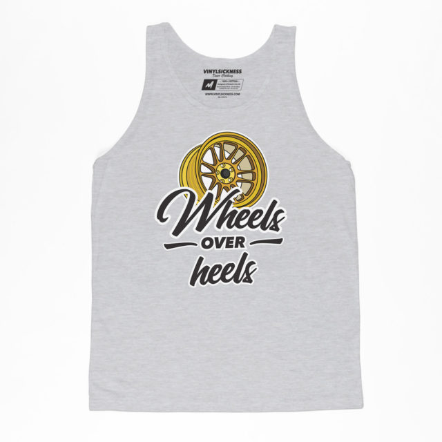 Wheels Over Heels Heather Jersey Tank Jdm Tuner Apparel
