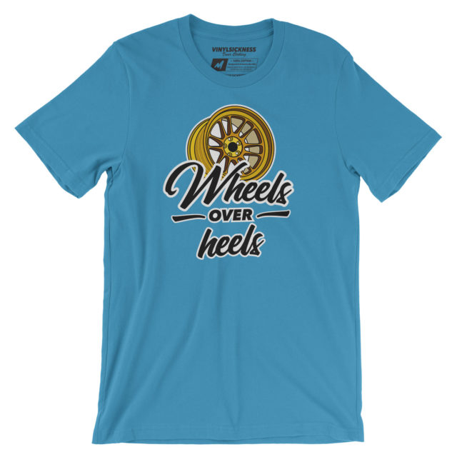 Wheels Over Heels Aqua Tshirt