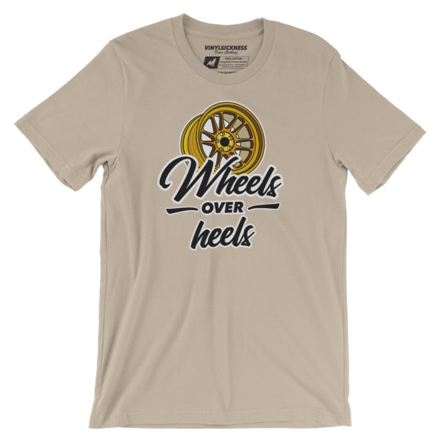 Wheels Over Heels Cream Tshirt