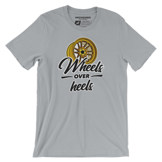 Wheels Over Heels Silver Tshirt