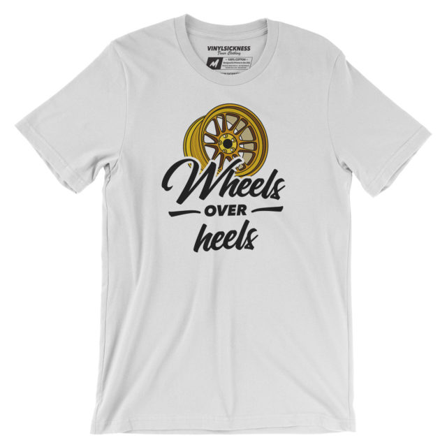 Wheels Over Heels White Tshirt
