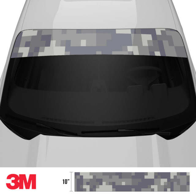 Artichoke Laurel Digital Camo Windshield Sun Strip Front 2