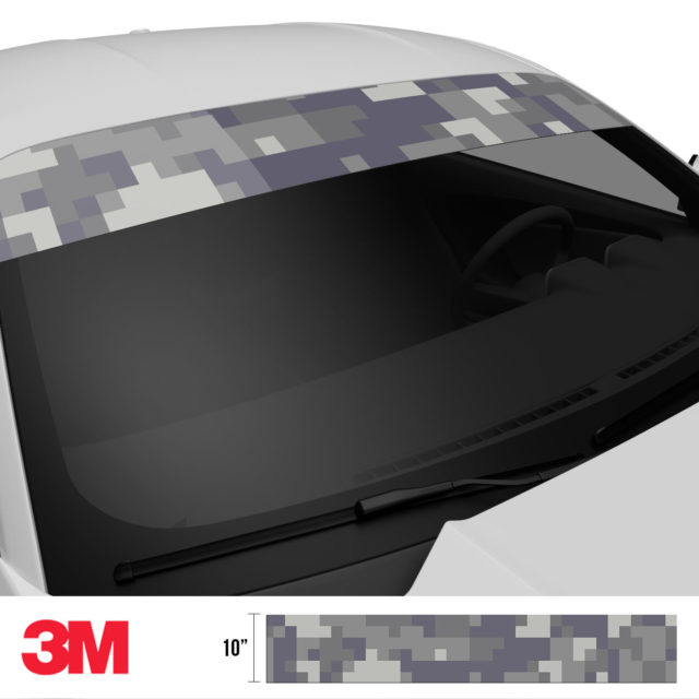Artichoke Laurel Digital Camo Windshield Sun Strip Side 2