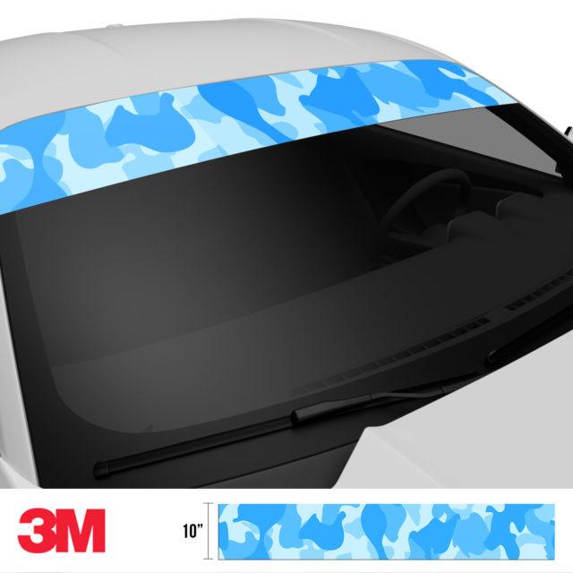 Azure Blue Windshield Sun Strip Side 2