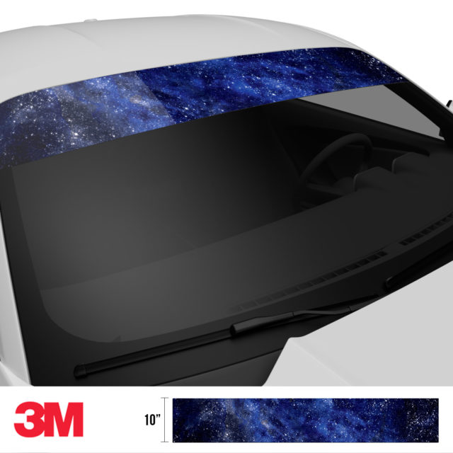 Blue Galaxy Windshield Sun Strip Side 2