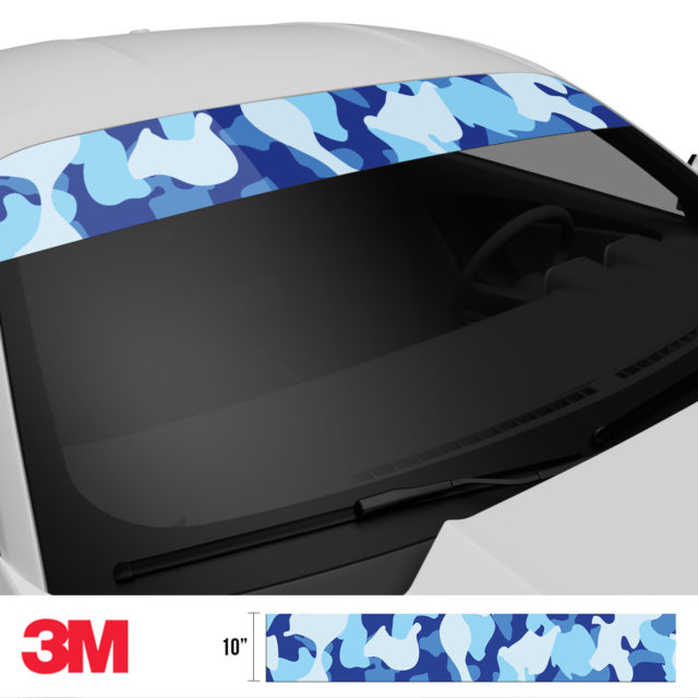 Blue Gray Windshield Sun Strip Side 2