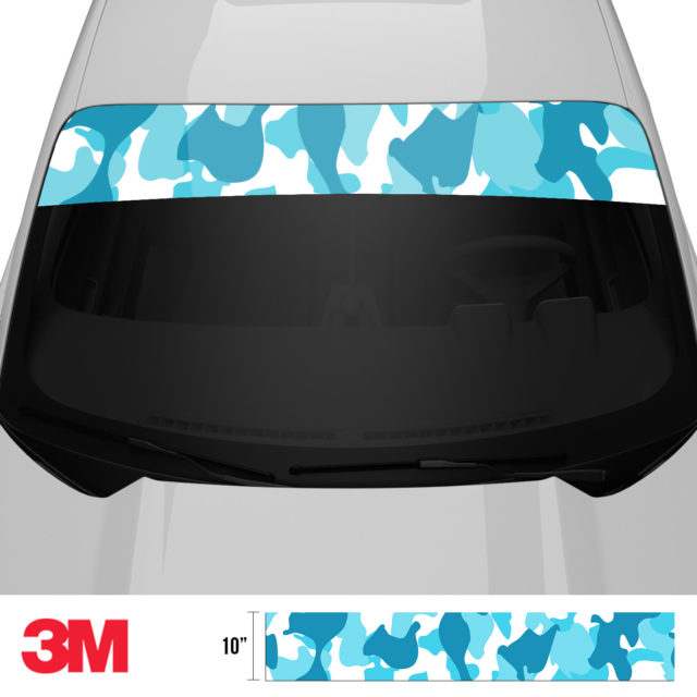 Bondi Blue Windshield Sun Strip Front 2