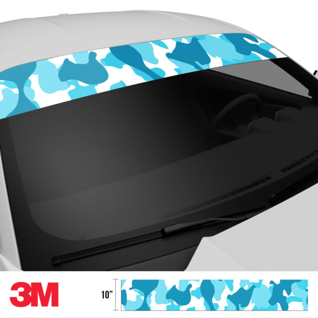 Bondi Blue Windshield Sun Strip Side 2