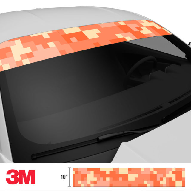 Carrot Digital Camo Windshield Sun Strip Side 2