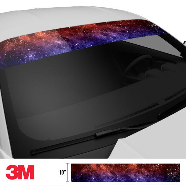 Celestial Galaxy Windshield Sun Strip Side 2