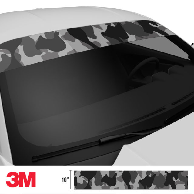Charcoal Smoke Camo Windshield Sun Strip Side 2