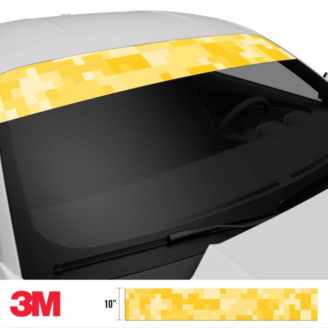 Dandelion Digital Camo Windshield Sun Strip Side 2