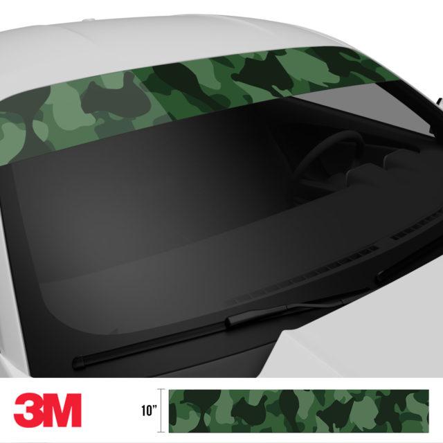 Deep Green Camo Windshield Sun Strip Side 2
