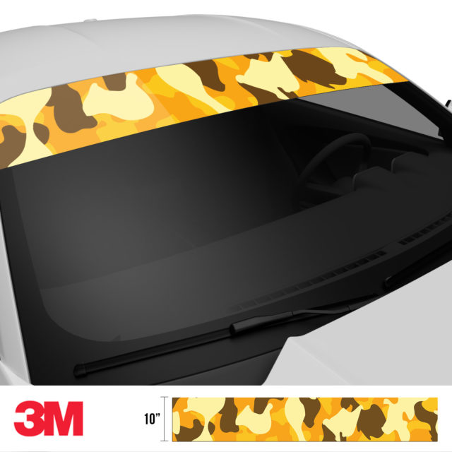 Golden Rod Camo Windshield Sun Strip Side 2