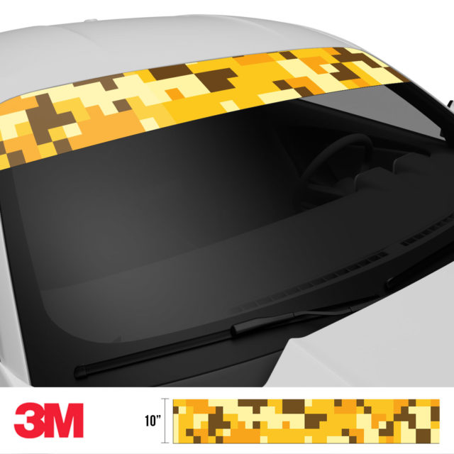 Golden Rod Digital Camo Windshield Sun Strip Side 2