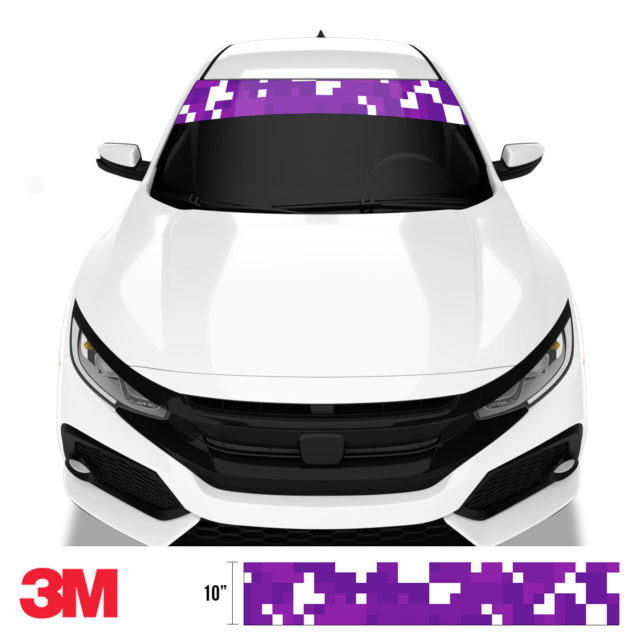 Grape Velvet Digital Camo Windshield Sun Strip Front