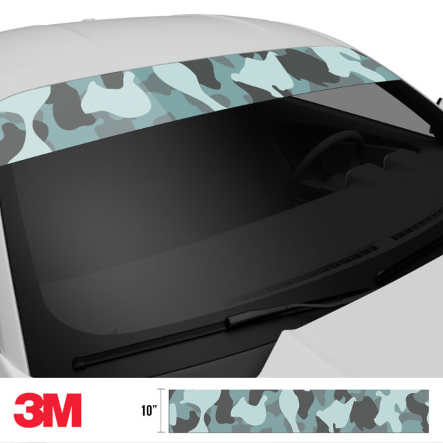Hunter Stone Camo Windshield Sun Strip Side 2