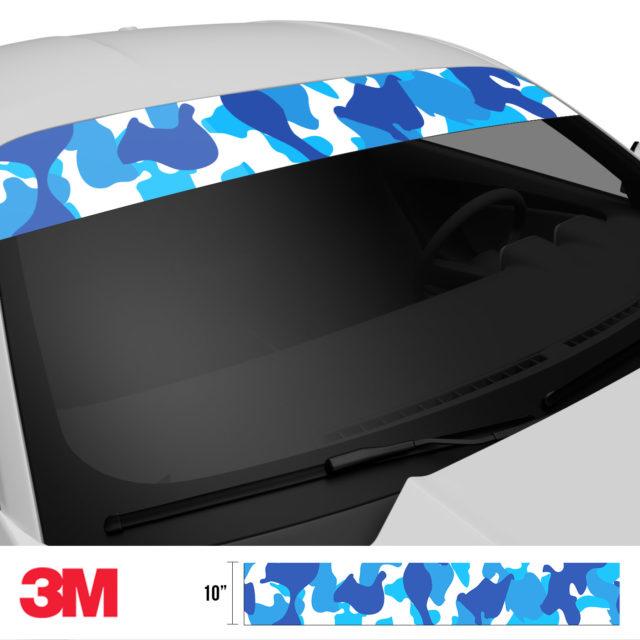 Hyper Blue Windshield Sun Strip Side 2