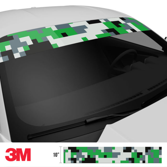 Iron Green Digital Camo Windshield Sun Strip Side 2