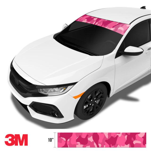 Jdm Premium Windshield Strip Banner Camo Candy Pink Side