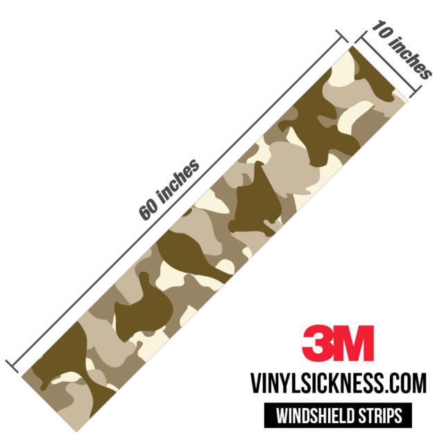 Jdm Premium Windshield Strip Banner Camo Desert Dimensions