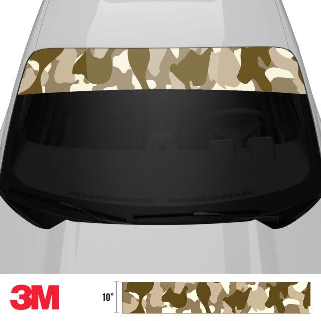 Jdm Premium Windshield Strip Banner Camo Desert Front 2