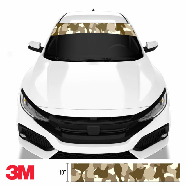 Jdm Premium Windshield Strip Banner Camo Desert Front