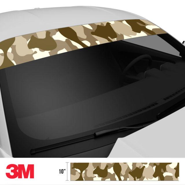 Jdm Premium Windshield Strip Banner Camo Desert Side 2