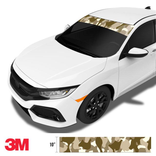 Jdm Premium Windshield Strip Banner Camo Desert Side