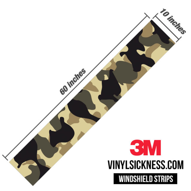 Jdm Premium Windshield Strip Banner Camo High Desert Dimensions