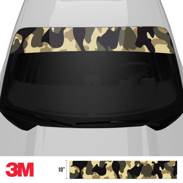 Jdm Premium Windshield Strip Banner Camo High Desert Front 2