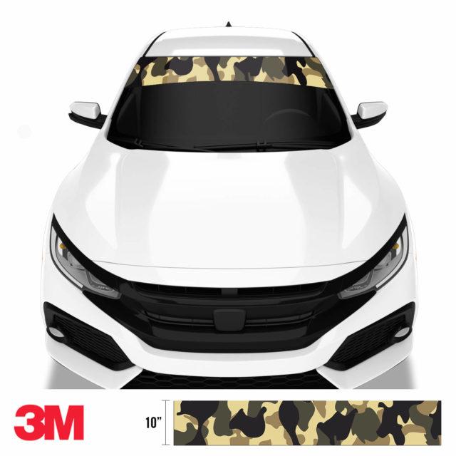 Jdm Premium Windshield Strip Banner Camo High Desert Front