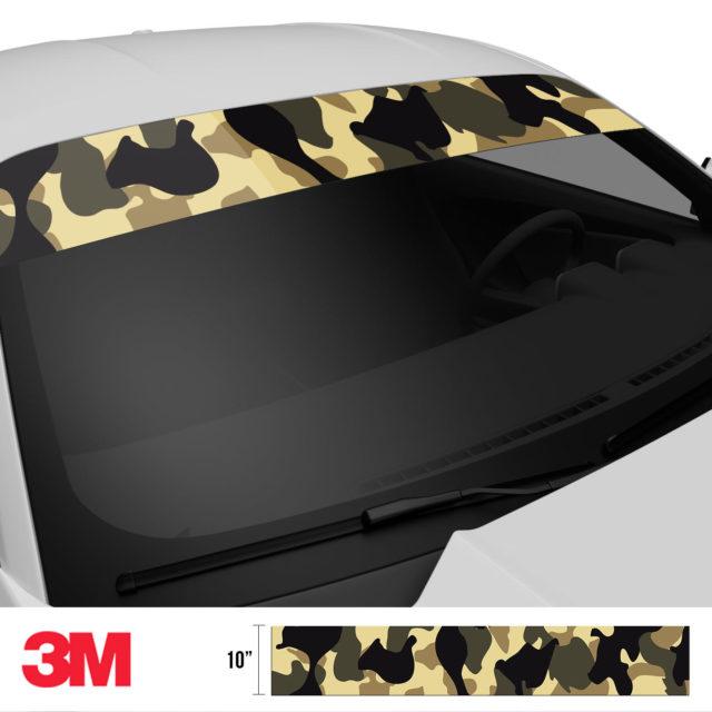 Jdm Premium Windshield Strip Banner Camo High Desert Side 2
