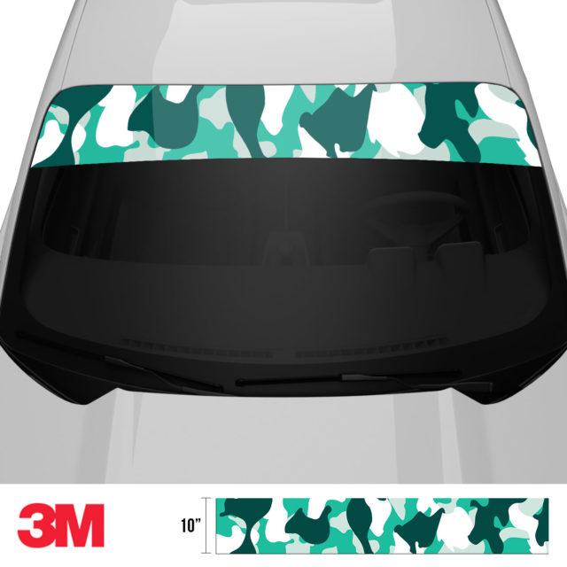 Jdm Premium Windshield Strip Banner Camo Ice Front 2