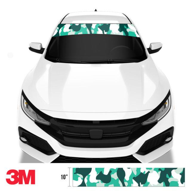 Jdm Premium Windshield Strip Banner Camo Ice Front