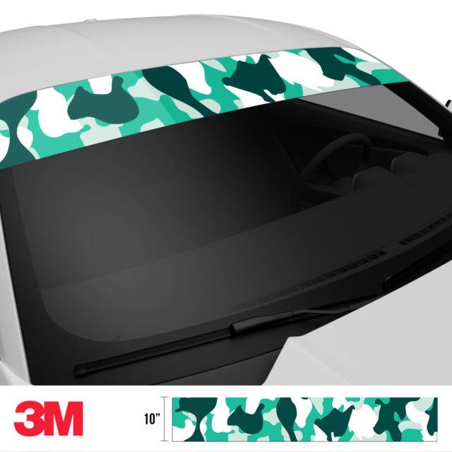 Jdm Premium Windshield Strip Banner Camo Ice Side 2