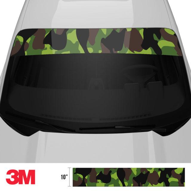 Jdm Premium Windshield Strip Banner Camo Jungle Front 2