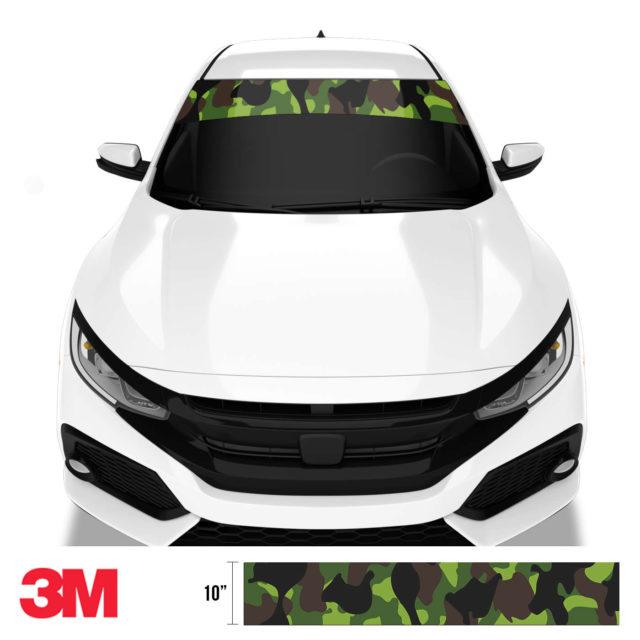 Jdm Premium Windshield Strip Banner Camo Jungle Front