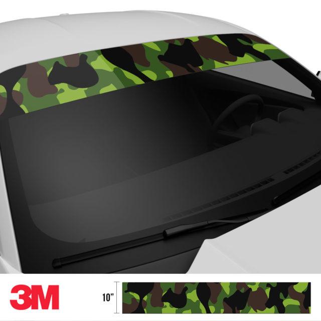 Jdm Premium Windshield Strip Banner Camo Jungle Side 2