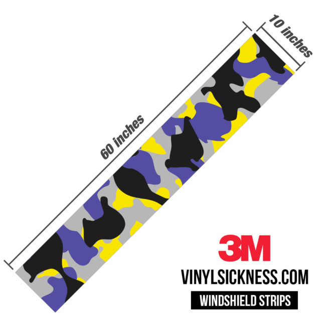 Jdm Premium Windshield Strip Banner Camo Lavender Dimensions