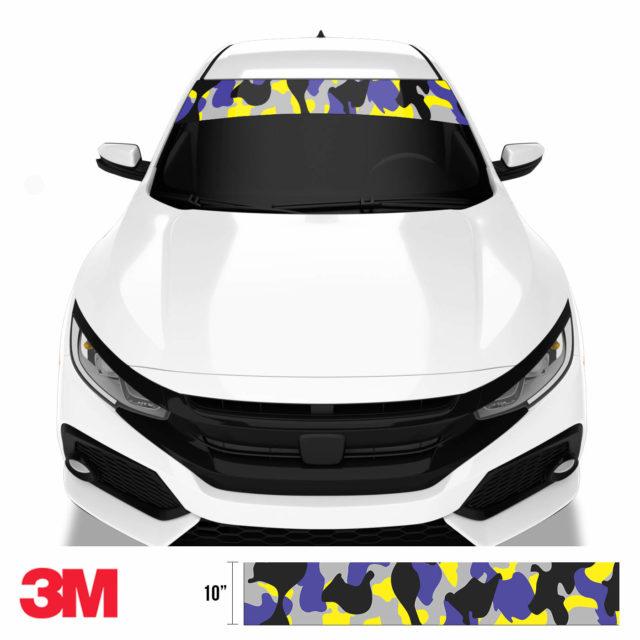 Jdm Premium Windshield Strip Banner Camo Lavender Front